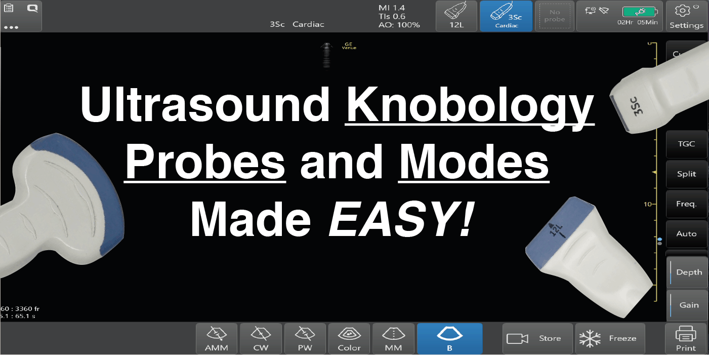 Ultrasound Knbology, Probes, and Modes made Easy