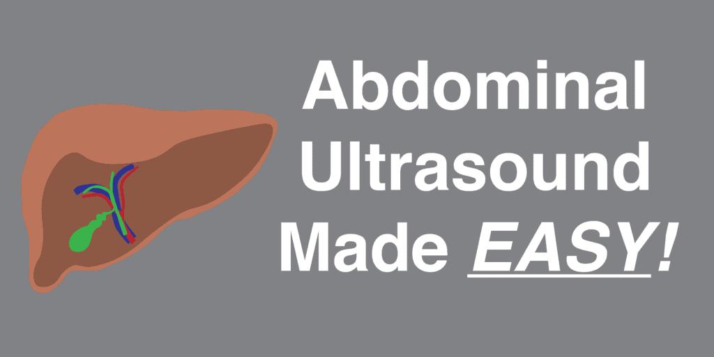 Abdomen Ultrasound Featured Image - POCUS 101